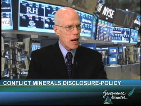 Conflict Minerals Disclosure Part 1 - Policy