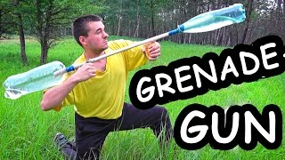 How to make: Water GRENADE - GUN / Water launcher gun
