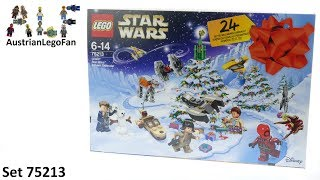 Lego Star Wars 75213 Star Wars Advent Calendar 2018 - Lego Speed Build Review