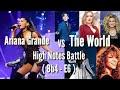 Ariana Grande VS The World Dimash ,Mariah ,Demi ,Sohyang... Bb4-E6 High Notes Battle