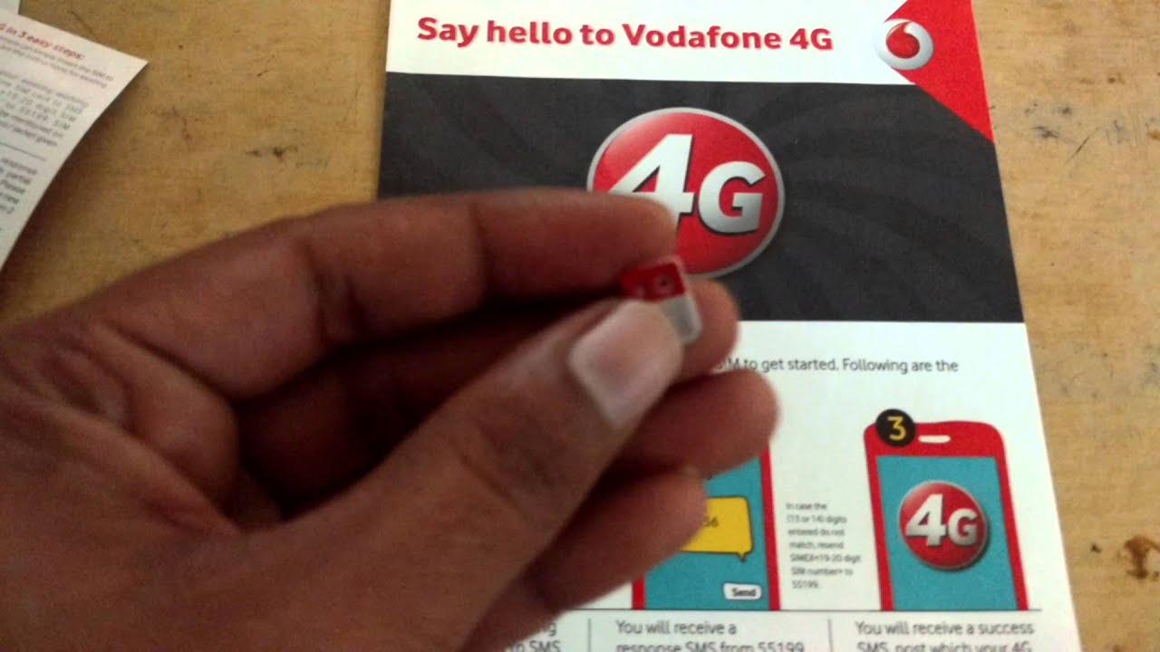 How to get Vodafone 4G sim at ur door step