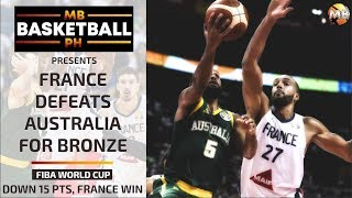 FRANCE TAKES BRONZE, WINS OVER AUSTRALIA Full Game Highlights | FIBA world cup 2019