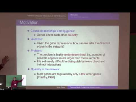 Amin Emad: Applications of Discrete Mathematics in Bioinformatics