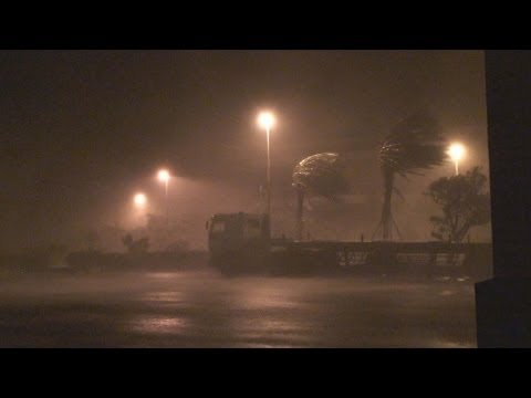 Typhoon Sinlaku Extreme Eyewall Stock Footage Screener HDV 1440x1080 50i Part 1