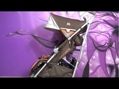 Как сложить коляску трость макларен видео