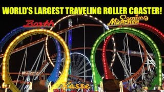 Olympia Looping in London! Night POV! World's Largest Traveling Roller Coaster