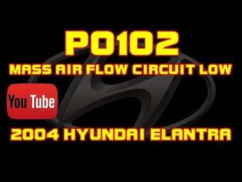 ⭐ 2004 Hyundai Elantra - P0102 - Mass Air Flow Or Volume Circuit