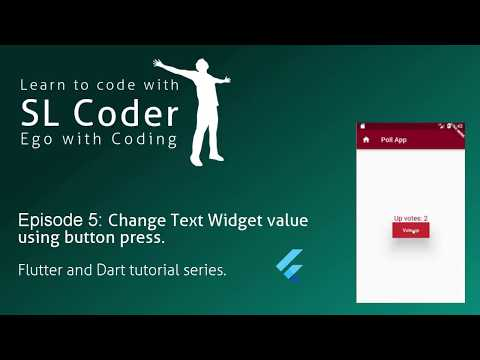 Change Text using button press Flutter and Dart   Column   RaisedButton Widgets- Ep. 5