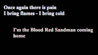 Lordi - Blood Red Sandman (lyrics video)