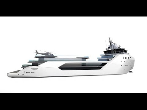 The $62m luxury yacht converted from a container ship