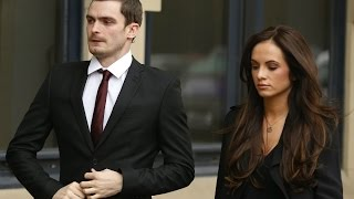 Adam Johnson's girlfriend tells court they've split up