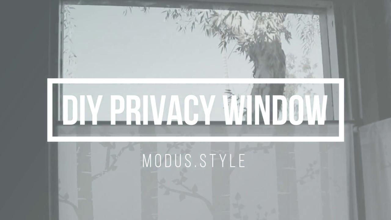 diy window privacy temporary diy privacy window screen youtube