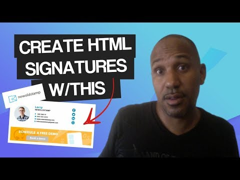 How To Create An HTML Signature   New Old Stamp Review