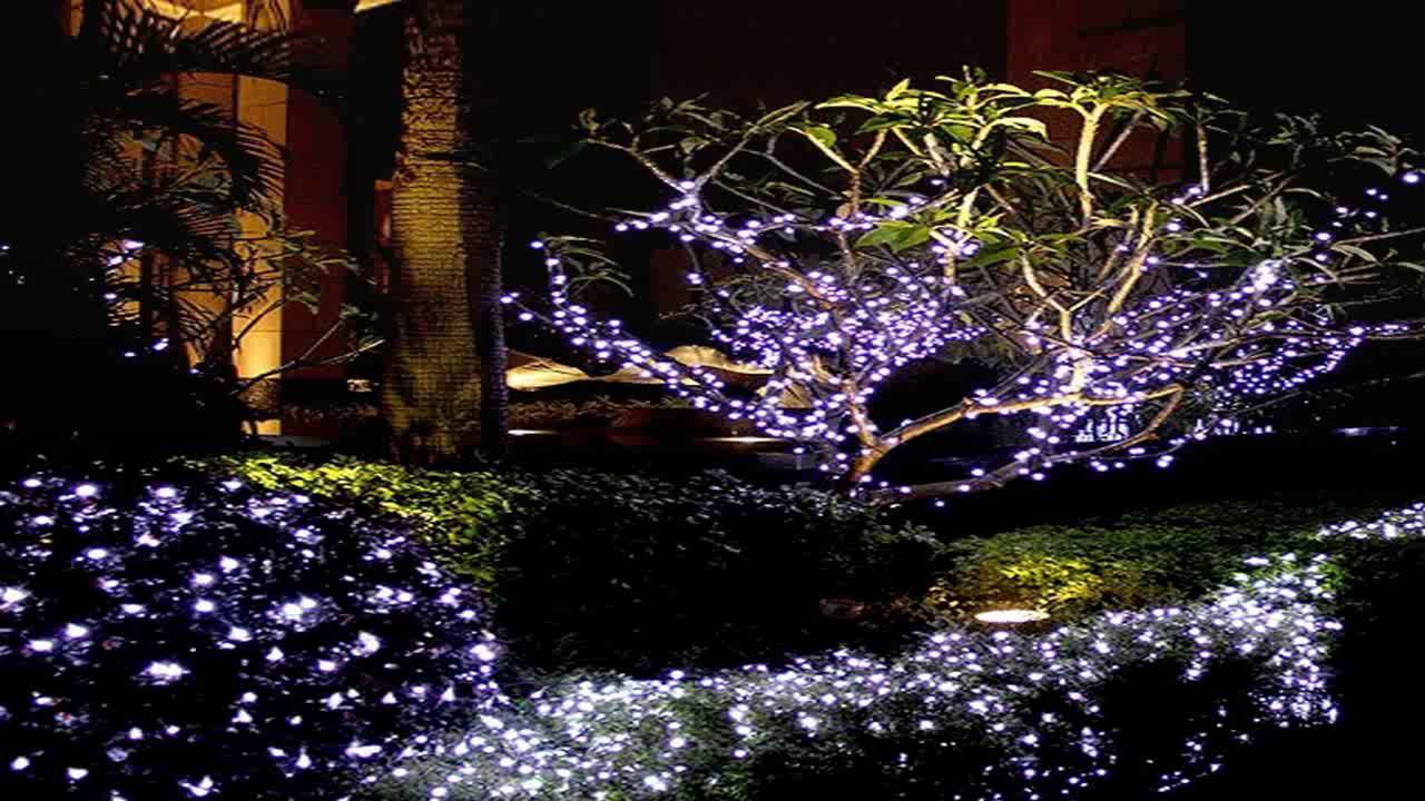 grde 17m 55ft 100 led solar powered fairy string light for outdoor gardens youtube