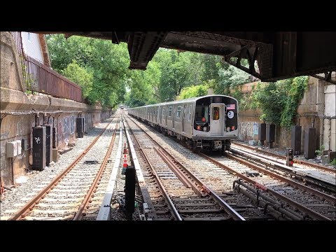 NYC Subway HD 60fps: R160A/R160B Q Trains & R68/R68A B Trains w/ R179 @ Newkirk Plaza (6/29/17)