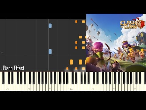 Clash of Clans - Battle Theme (Piano Tutorial Synthesia)
