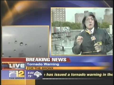 News 12 David Roush Weather Live Break In Tornado Warning Aug 2008