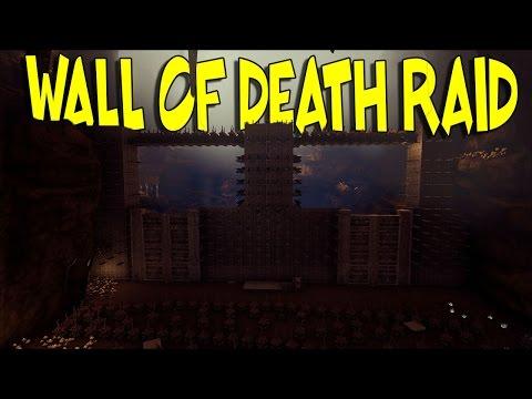 """THE WALL OF DEATH RAID"" - RAID CAM   Ark: Survival Evolved (60fps)"
