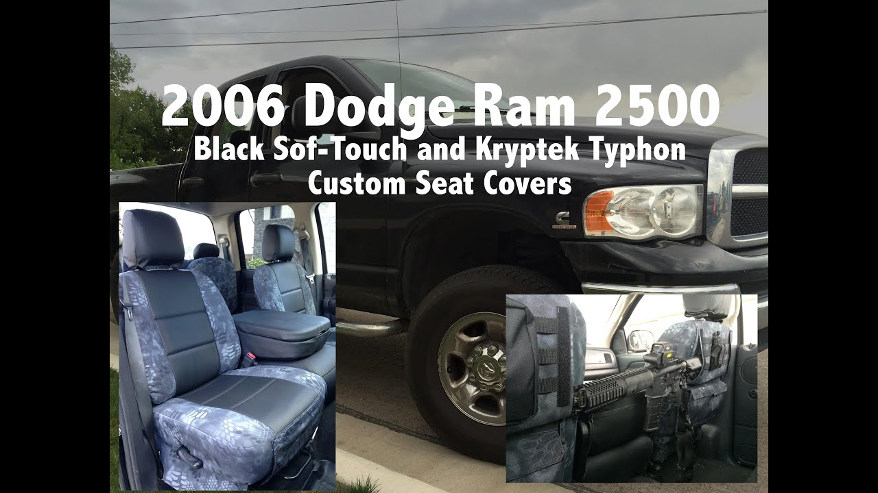 2005 Dodge Ram Black Sof Touch And Kryptek Typhon Camo Seat Covers