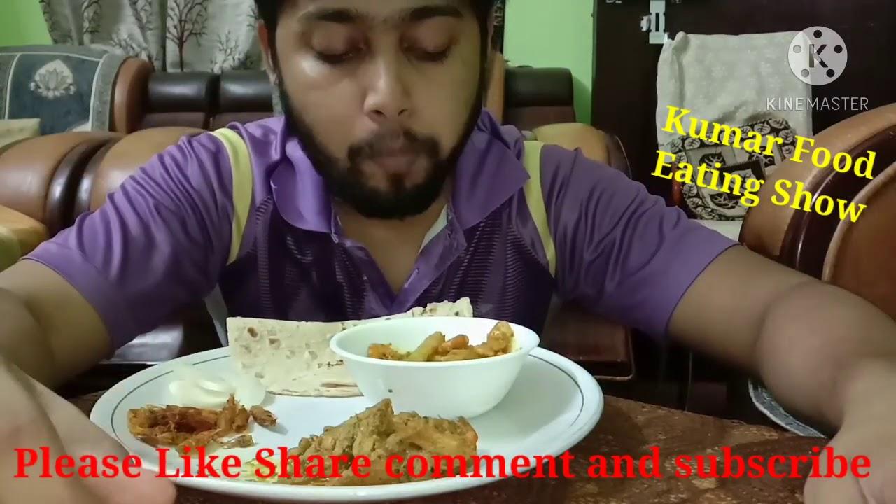 Dinner.. Roti, aloo prawn curry,, Sookha aloo prawn