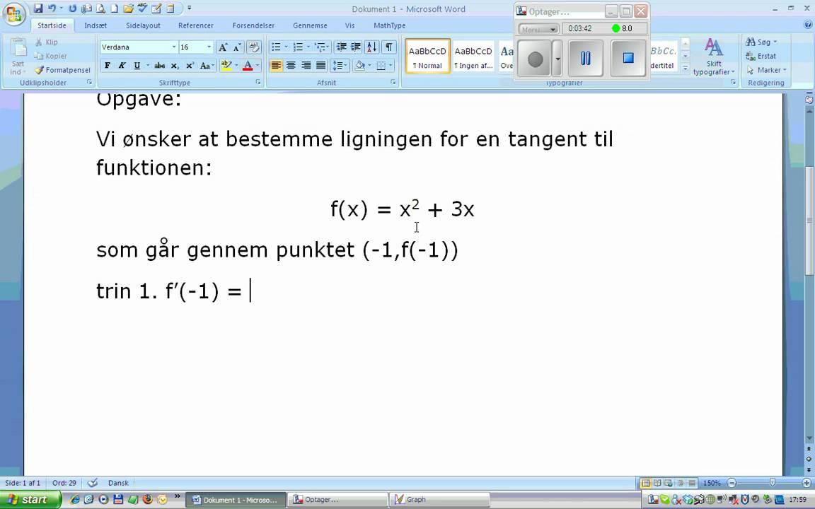 ligningen for en tangent.wmv