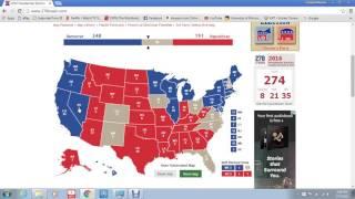 Electoral College Map 2016 (Democrat candidate vs Republican candidate)