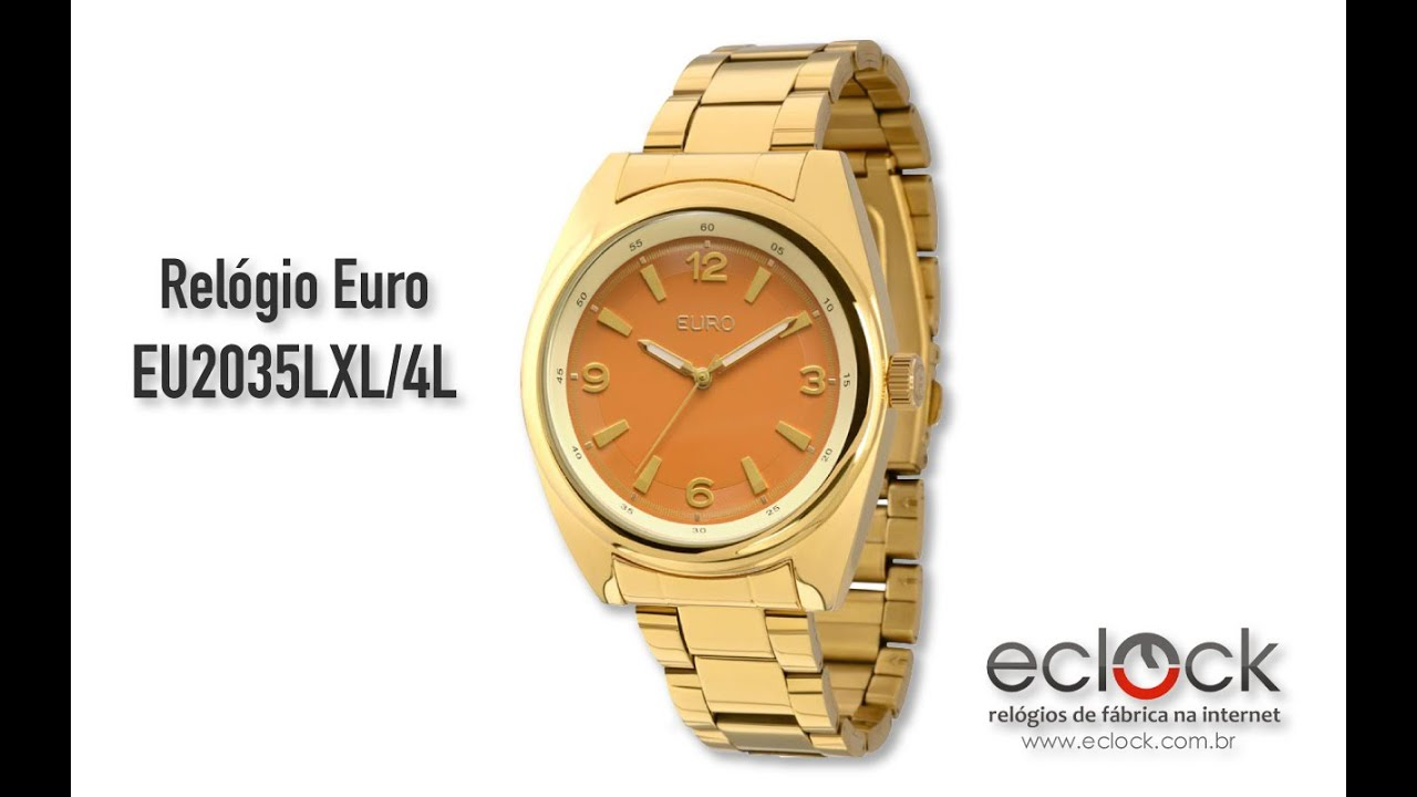 f9c08ddf560 Relógio Euro Feminino EU2035LXL 4L - Eclock - YouTube