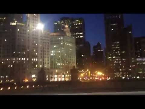 Night on Michigan Avenue and the Chicago River