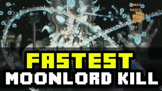 Terraria 1.3 - The Fastest Moon Lord Kill EVER! Moon Lord Speed Kill With Mods! [1.3 PC]