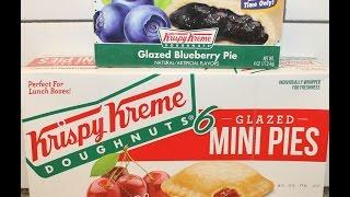 Krispy Kreme Glazed Very Blueberry Pie & Cherry Mini Pie Review