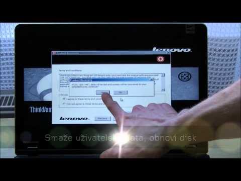 ThinkVantage Rescue and Recovery záchranné rozhraní (Lenovo Blog CZ)