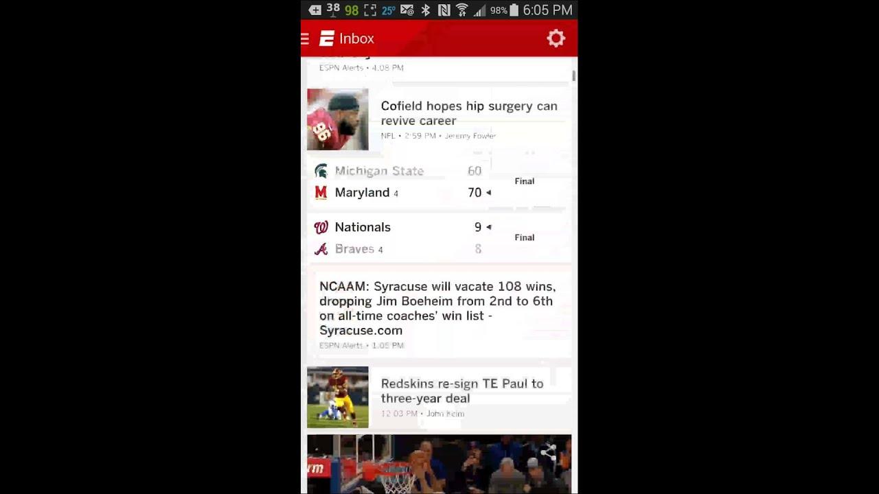 ESPN SportsCenter alert? Won't open! - YouTube