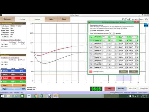 CSWEET ROAST CONTROL SOFTWARE DEMO