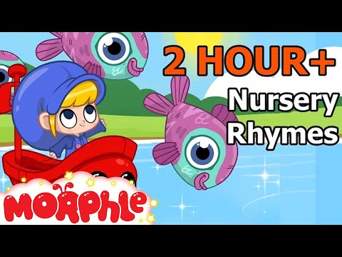 Row Row Row Your Boat ( + Many More Nursery Rhymes ) 2 Hour Baby TV -  By My Magic Pet Morphle