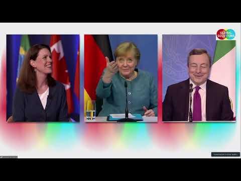 Global Solution Summit: Draghi sovrasta Merkel, lei gli concede la parola