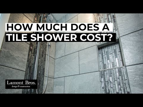 How Much Does A Tile Shower Cost Lamont Bros