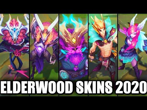 All New 2020 Elderwood Skins Spotlight Ornn Azir Xayah Rakan Ivern (League of Legends)