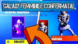 FEMALE GALAXY SKIN CONFIRMED! FREE PENDANTS! FORTNITE X IT2! (SEASON 10 FORTNITE)