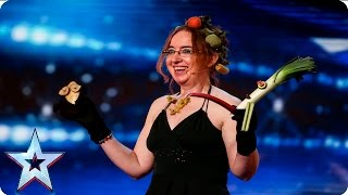 Let the force be with you, Madame Zucchini  | Week 1 Auditions | Britain's Got Talent 2016