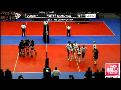 2012 CHSAA 5A State Volleyball:  Doherty vs. Grandview (Championship)