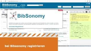 Lesezeichen und Literatureinträge mit Bibsonomy.org online verwalten und exportieren