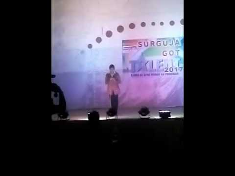 Ridhi dasgupta at surguja got talent ..... #semifinale performance that got her selected in finale .
