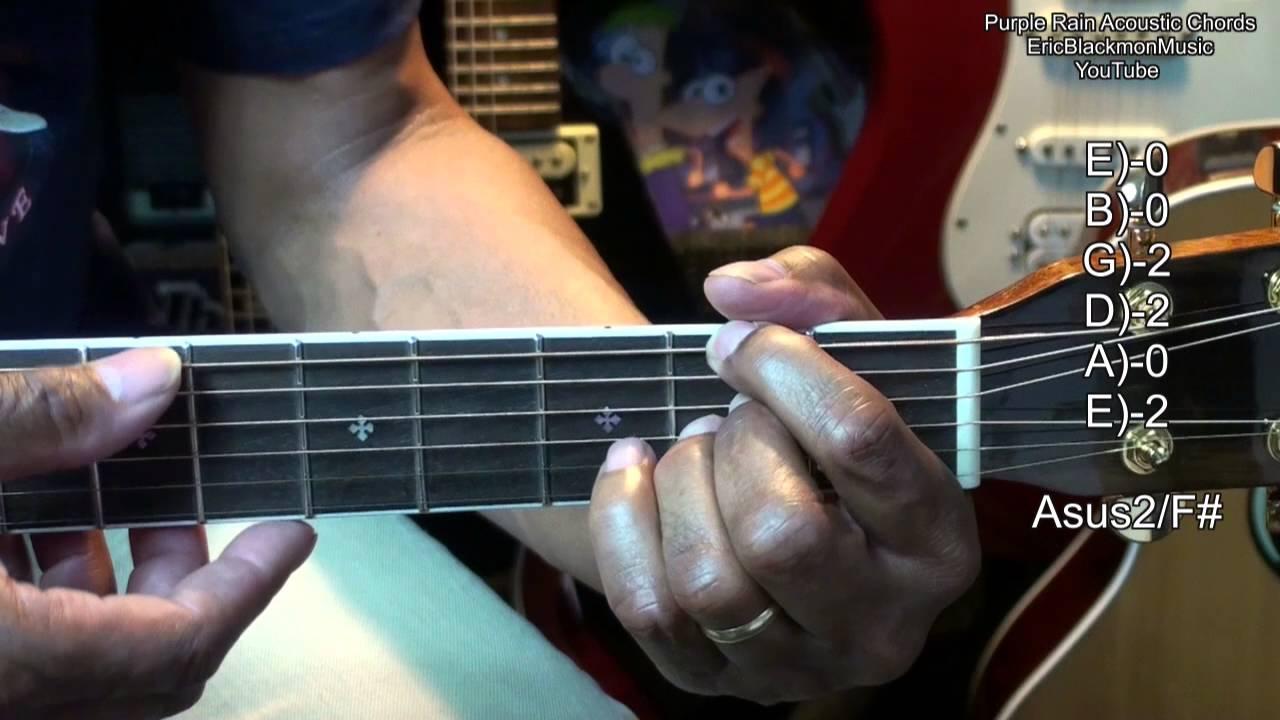 Purple Rain Prince Easy Acoustic Guitar Chords Tabs Lesson Link