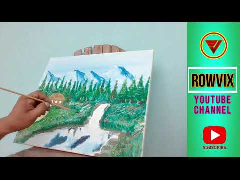 Acrylic Landscape Painting (Art 5 Lesson Reference)