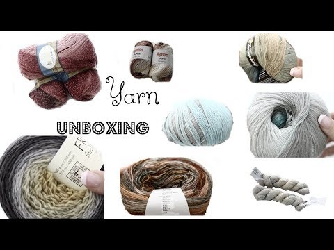 My first ever Yarn Unboxing!!! August 2017