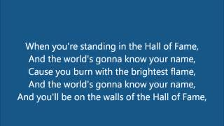 Hall of Fame by The Script Lyrics (WWE Hall of Fame 2013 Theme Song)