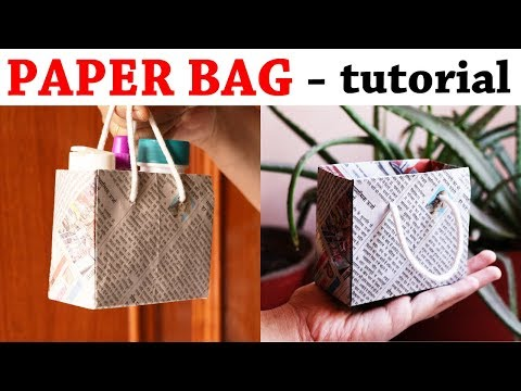 How to Make a Paper Bag Using Newspaper – Paper Bag Making Tutorial (VERY EASY)