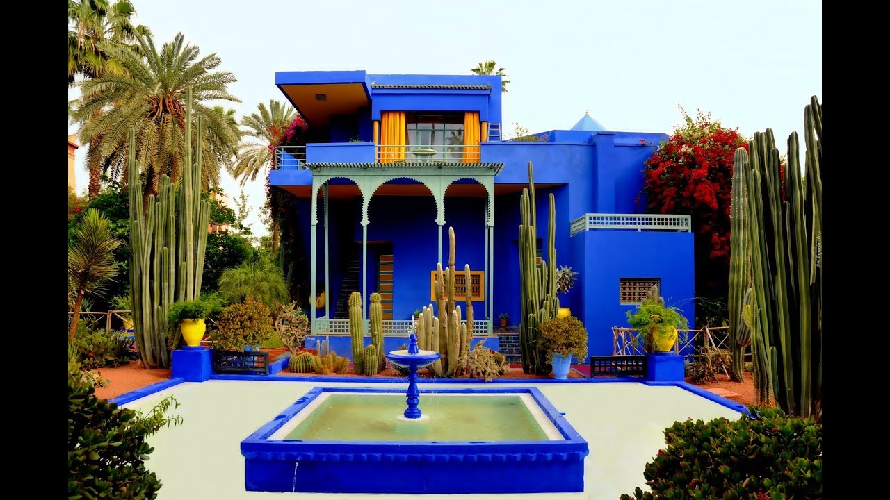 majorelle garden marrakech yves saint laurent home youtube. Black Bedroom Furniture Sets. Home Design Ideas
