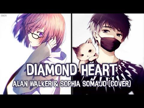 nightcore---diamond-heart-(switching-vocals)---(lyrics)
