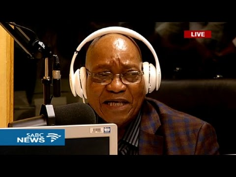 President Zuma graces the Ukhozi FM studios
